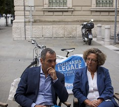 Il sen. Lorenzo Battista e l'on. Tamara Blazina