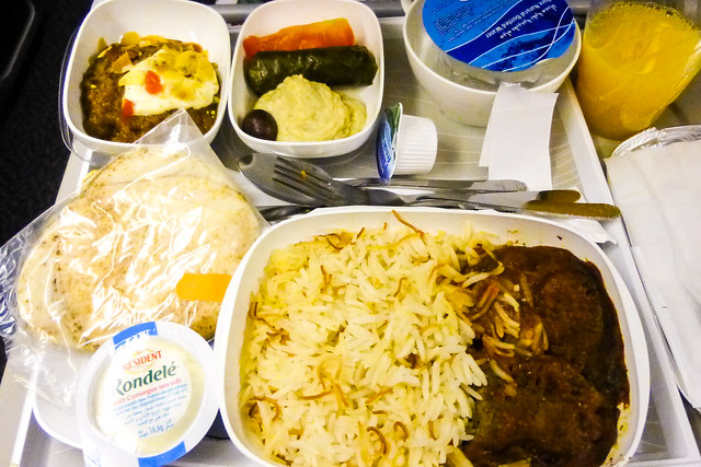 Inflight meal of Emirates Airline エミレーツ航空機内食