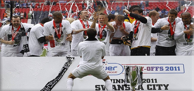 Picture of promotion to the Premier League 2011