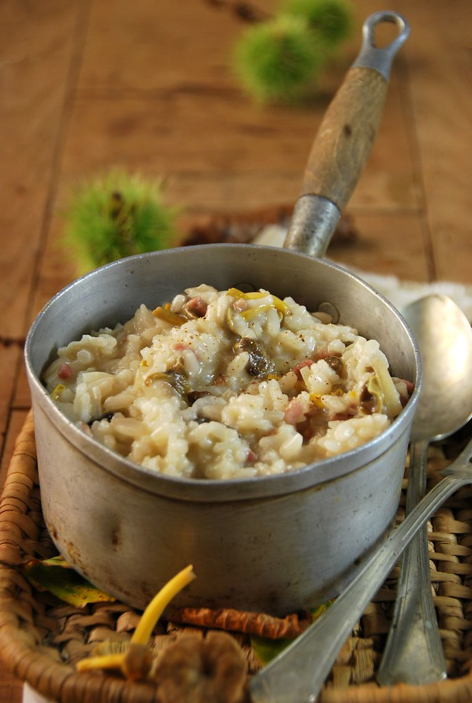 risotto aux champignons des bois recette tangerine zest. Black Bedroom Furniture Sets. Home Design Ideas