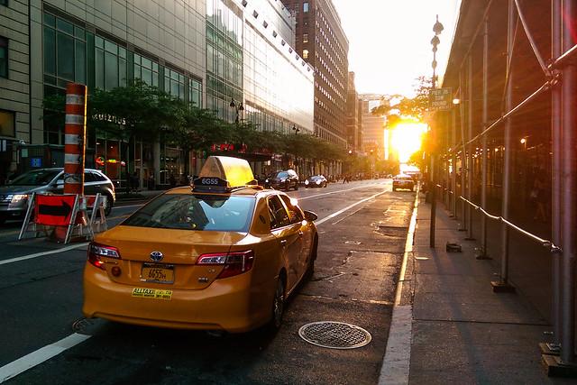 Street Over Sunset