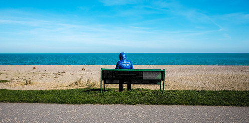 greystones beach blue view jacket coat