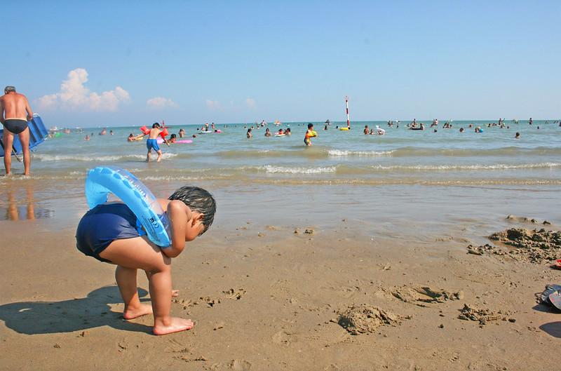 lignano beach, italy, sand
