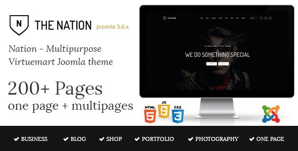 Nation v1.1 - Multipurpose Virtuemart Joomla Template