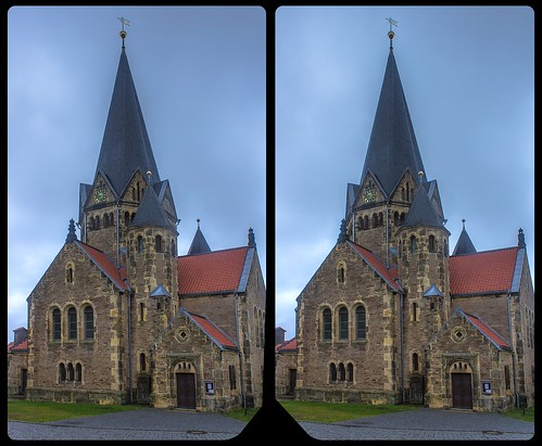 Church of Benzingerode 3-D / Stereoscopy / CrossView / HDR / Raw