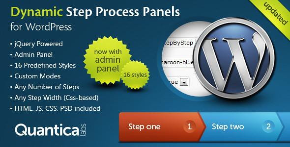 Dynamic Step Process Panels for WordPress free download