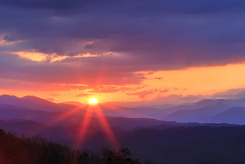 sunrise great smoky mountains foothills parkway tennessee