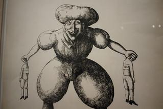 Le Grand Dieu Pan, Roland Topor, 1973 - Exposition Topor à la BnF