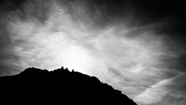 People on the hill - Howth, Ireland - Black and white street photography