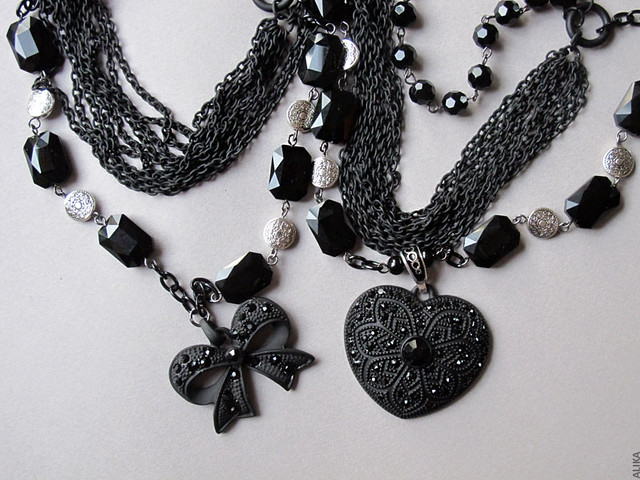 Black Victorian necklaces