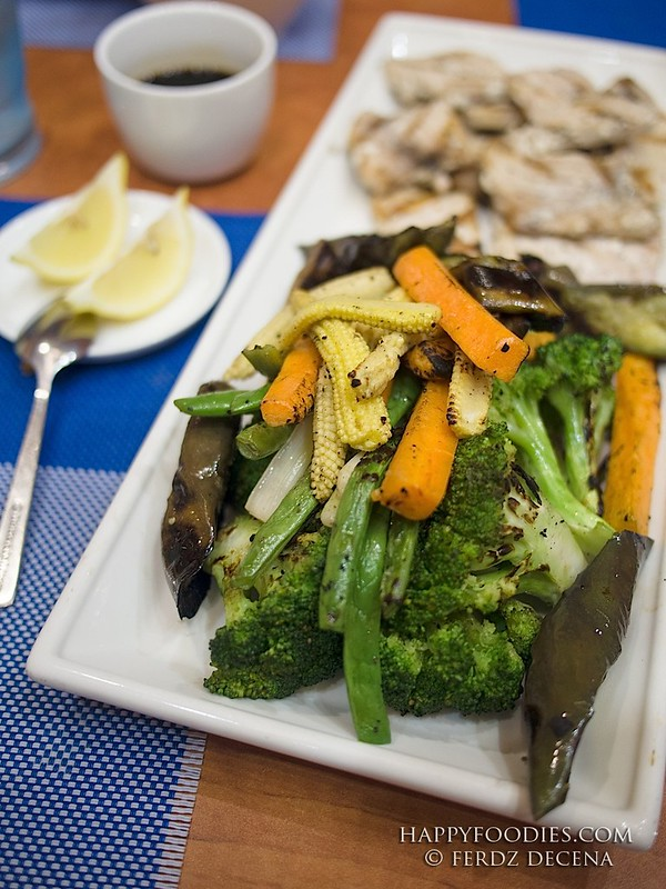 Peppered Fish and Grilled Vegetables