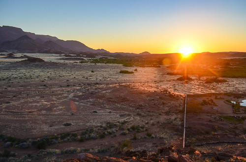 Sunset in Brandberg, Namibia