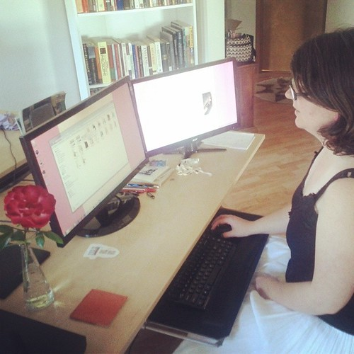 Who's working at their very own desk? #backtowork #reallife