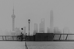 textured by the ever escalating pollution~ Shanghai