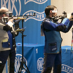 Niccolo Campriani & Sergey Kruglov in the 10m Air Rifle Men Finals