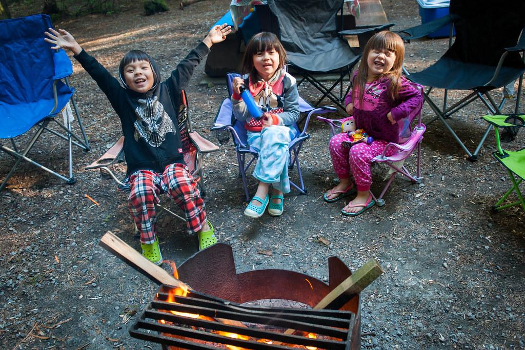 Morning campfire.