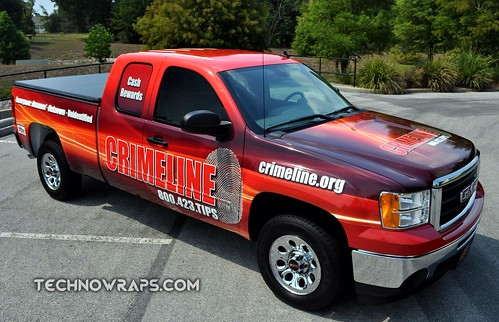 Truck wrap graphics by TechnoSigns