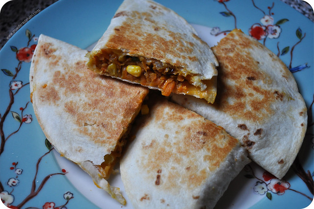 Sweet Potato Quesadillas - Get in mah belly.