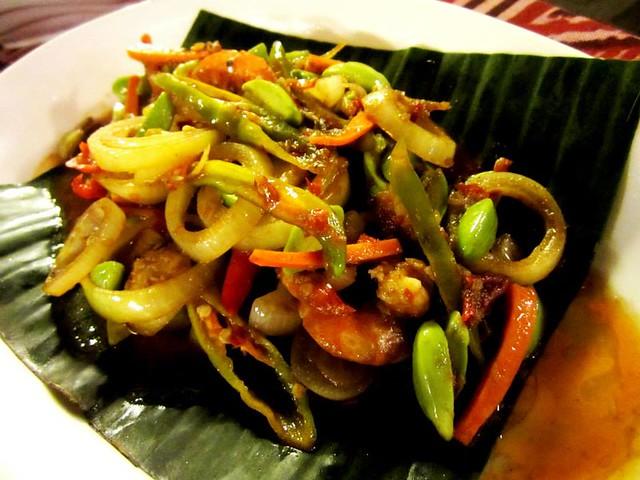 Petai with prawns