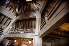 attic, wood, roof, architecture, ceiling, beam, interior design, vault, column,
