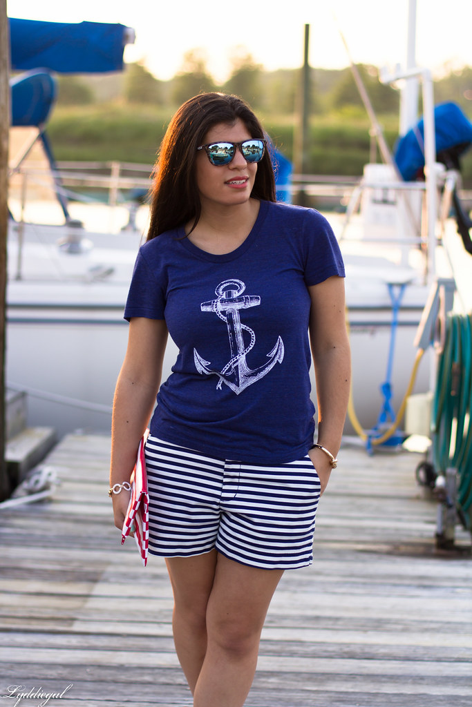 Anchor Tee, Striped Shorts-5.jpg