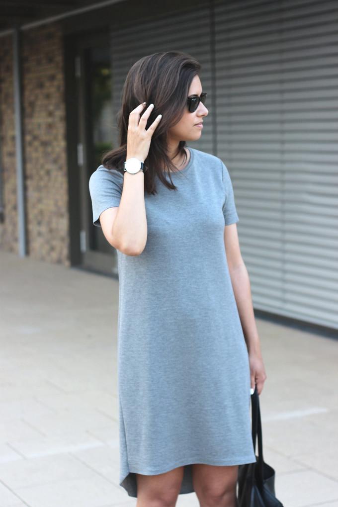 ... Outfit-zara-grey-tshirt-dress  1ecb734d6036