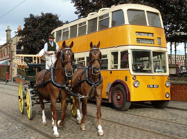 A Charabanc and a Trolleybus