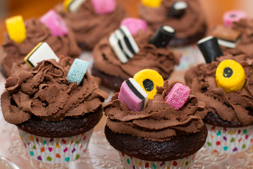 """Wishing you Allsorts of Fun on your Birthday"" Cupcakes"