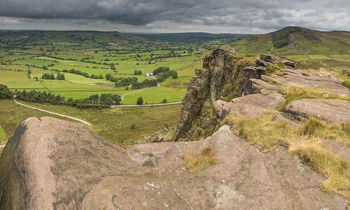 panorama landscape heather peakdistrict staffordshire darkpeak moorland gritstone theroaches hencloud staffordshiremoorlands minoltaamount britnatparks gritstonetors