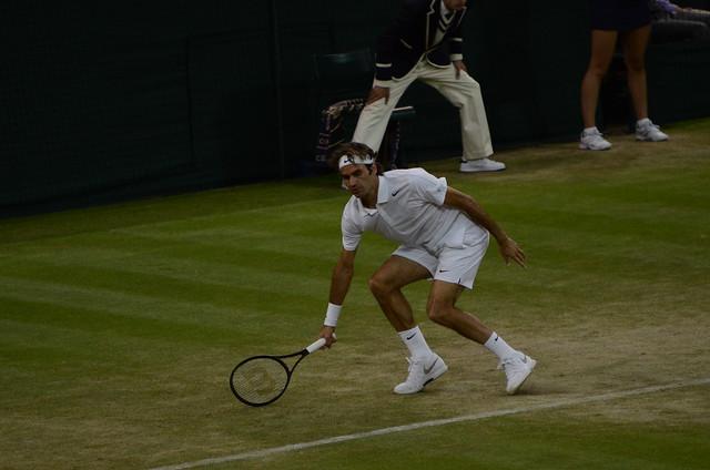 Federer half volley