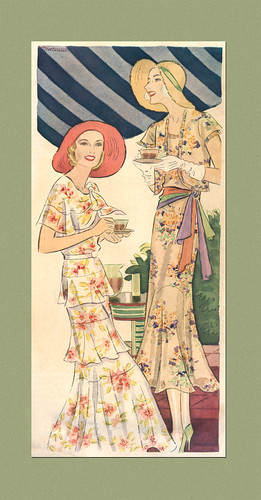 Fashion Illustration by Thelma Mortimer, 1931