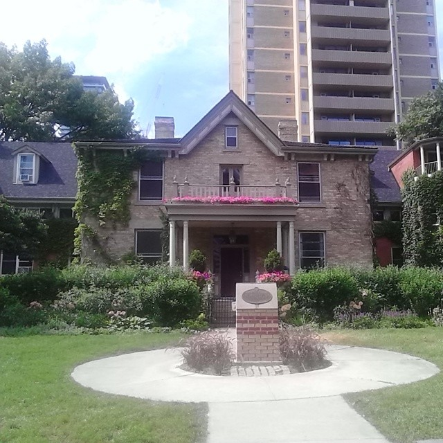 Paul Kane House among the towers #toronto