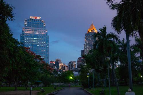 Lumpini Park sunset 6