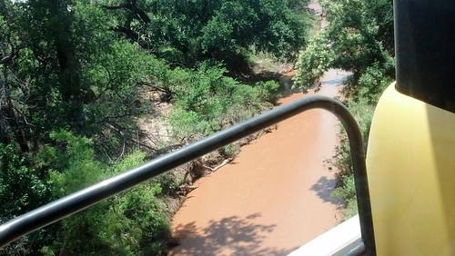 Raging river in Okla.