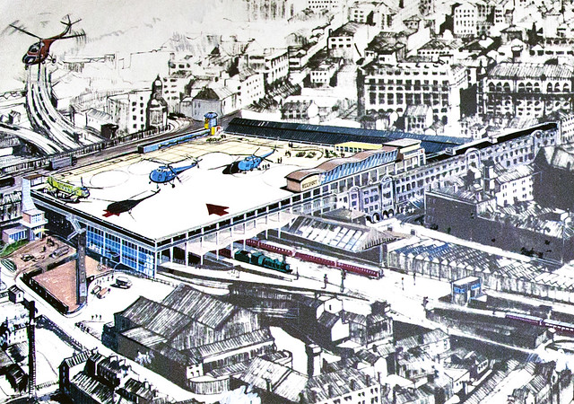 Heliport perspective, Victoria Station