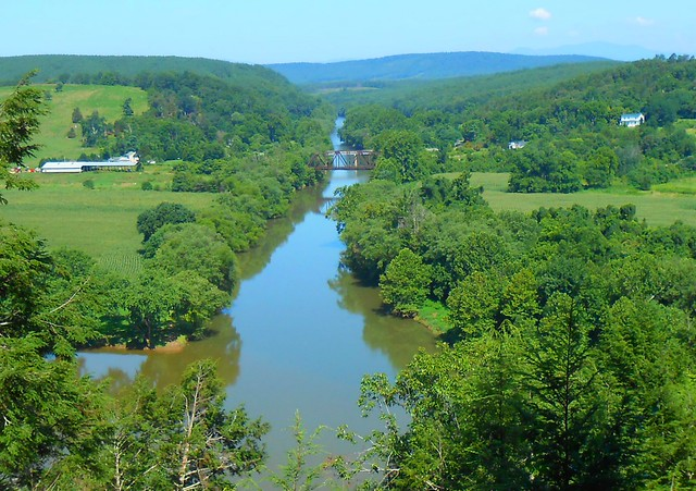 Where the James River intersects the Tye River at James River State Park - Tye River Overlook