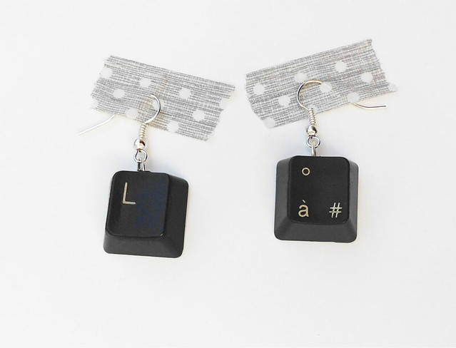 09 Computer Keyboard Earrings