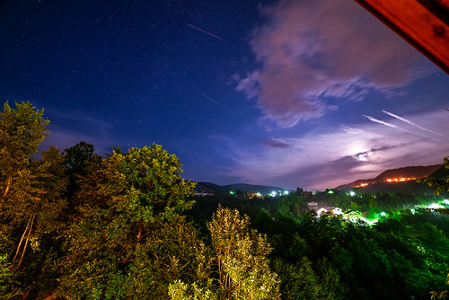 city longexposure blue trees roof light sky cloud moon tree green night clouds project dark skyscape lens stars prime lights star high nikon europe long exposure sarajevo bosnia low capital skylight iso 365 catchy d610 14mm bosniaandherzegovina 14mm28 samyang bosnieherzégovine