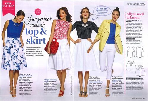 Sew, incidentally...: PRIMA Pattern, August 2014 - Sleeveless Top ...