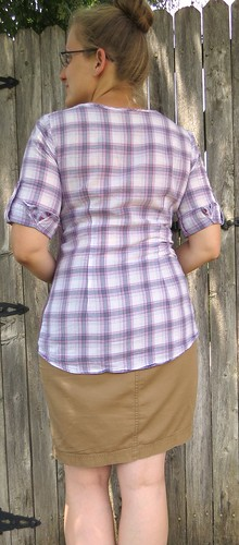 Plaid-Back Tee - After