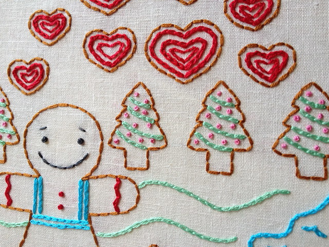 The Gingerbread Man - new embroidery pattern from Little Dorrit & Co.!