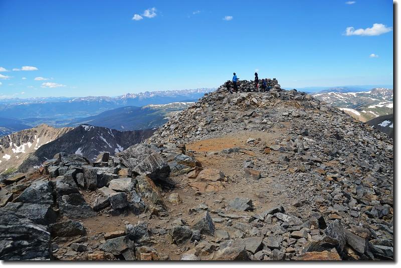 The summit of Grays Peak