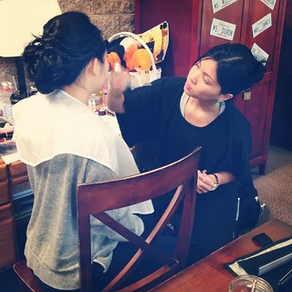 My #team is pretty #awesome @michelleirislee #beautybyjill #makeupandhairteam #mua #makeupartist #teamwork #beautyteam #bts #promua #promakeup #promakeupartist #working #work