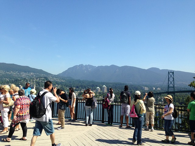 Tourists at Prospect Point in Stanley Park