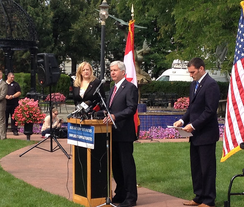 Governor Snyder announces his appointments on the Capitol lawn