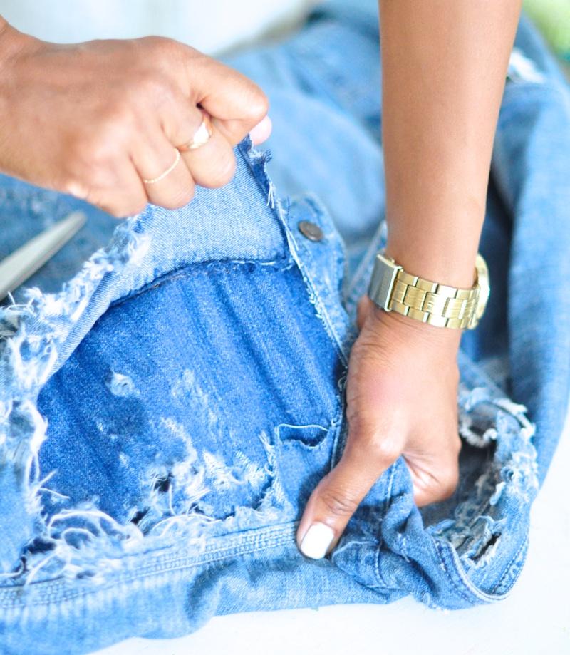 how to distress a denim jacket