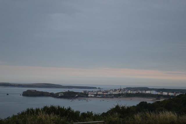 This is a picture of Tenby from Trevayne campsite