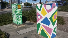 Traffic signal boxes b0846 and B0891