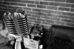 microphone, electronic device, white, monochrome photography, audio equipment, monochrome, black-and-white, black,