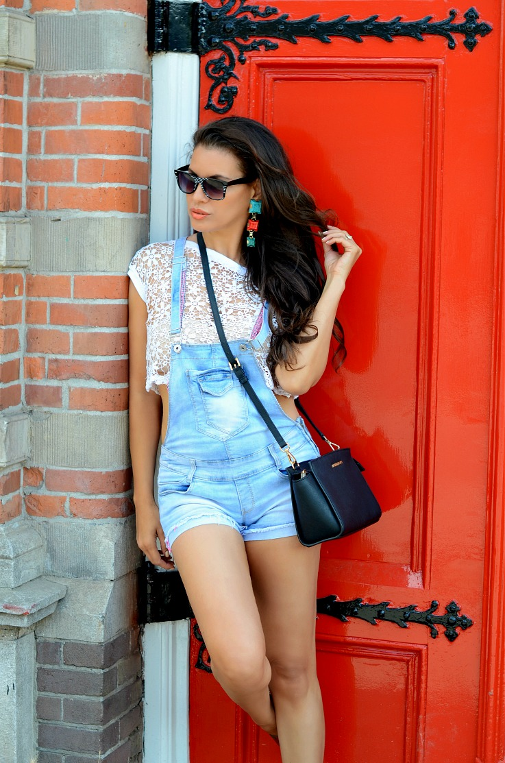 DSC_0779 denim overalls, michael kors, supertrash earrings2